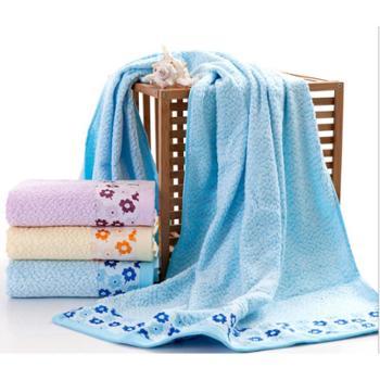 红鹦鹉紫荆花竹纤维浴巾(一条)