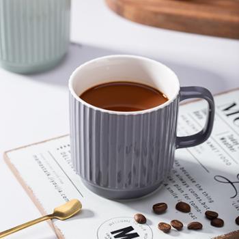 竖纹陶瓷杯350ml*2个