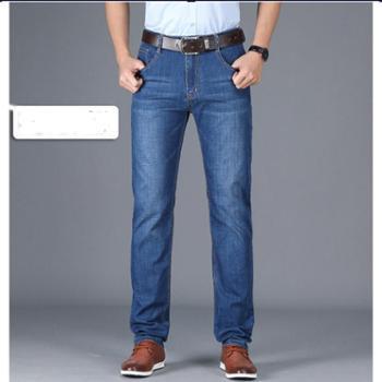 Aeroline男士牛仔裤薄款商务弹力修身牛仔裤男直筒青年