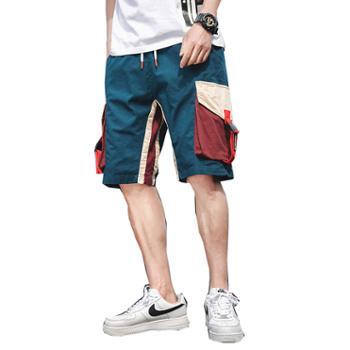 Aeroline夏季中腰微弹宽松口袋薄款五分工装短裤
