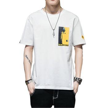 柏誉/Aeroline 男式T恤 夏季透气微弹圆领短袖青少年男生小衫