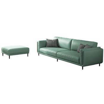 科莱斯克北欧布艺简约现代小户型客厅轻奢科技布沙发家具