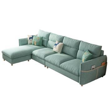 科莱斯克小户型网红INS北欧简约乳胶三四人位可拆洗直排整装沙发