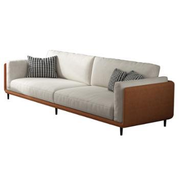 科莱斯克现代简约乳胶海绵客厅123经济型组装防水科技绒大小户型布艺沙发
