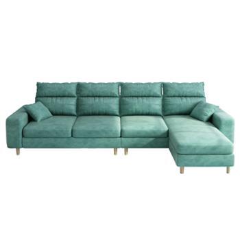 科莱斯克简约现代中小户型组合可拆洗客厅整装三人四人位布艺沙发