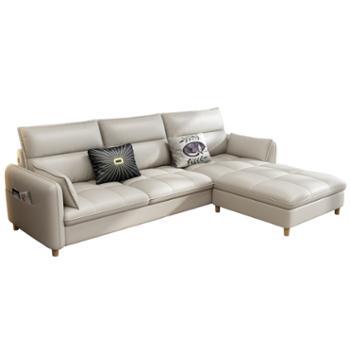 科莱斯克北欧小户型双人三人客厅科技布免洗组合沙发