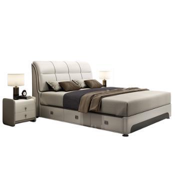 科莱斯克高箱储物软皮艺1.5米1.8米软包双人床