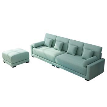 科莱斯克北欧简约乳胶四人位客厅小户型整装直排布沙发