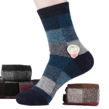浪莎男士加厚兔羊毛棉袜中筒保暖6双GB5972-2