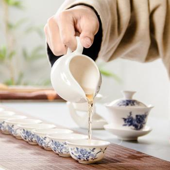 12头功夫陶瓷茶具套装
