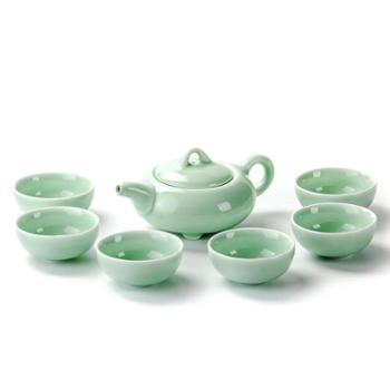 聚森青瓷陶瓷一壶六杯功夫茶具