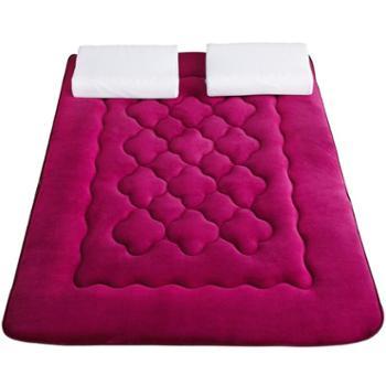 普马狮 法莱绒梅花款床垫秋冬舒适保暖单双人学生宿舍床垫