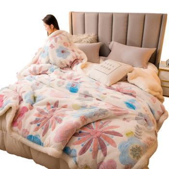 普马狮多功能毛毯被套雪花绒+羊羔绒1.5m/1.8m/2.0m