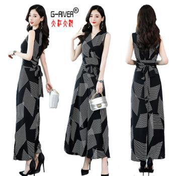 大江大河G-RIVER时尚优雅潮流舒适套装/套裙夏季新款休闲无袖气质两件套