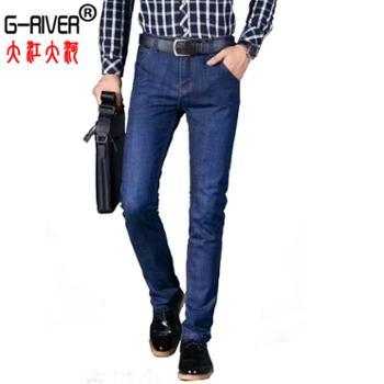 大江大河/G-RIVER薄款宽松透气弹力男式牛仔裤柔软不紧绷穿着舒适30-41