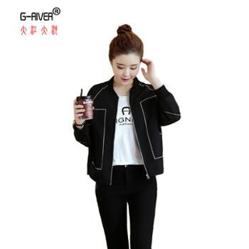 大江大河/G-RIVER女士长袖外套短款棒球服S-XL