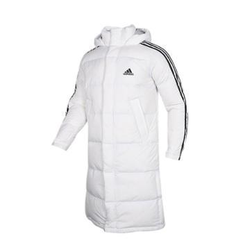 阿迪达斯Adidas长款羽绒服男装秋冬季新款保暖运动外套EH3991