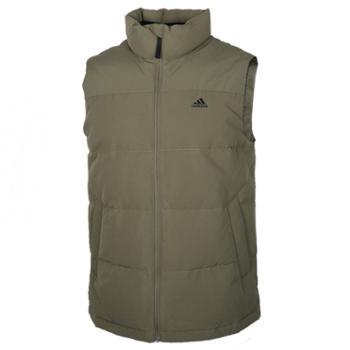 阿迪达斯Adidas男装外套马夹冬季新款运动服保暖背心羽绒马甲EH4000