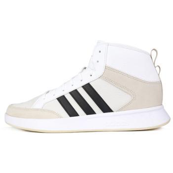 adidas阿迪达斯男鞋新款休闲鞋运动鞋高帮白板鞋EE9678