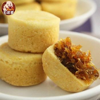台湾进口食品糕点毛老爹凤梨酥一口酥16入 休闲零食独立包装