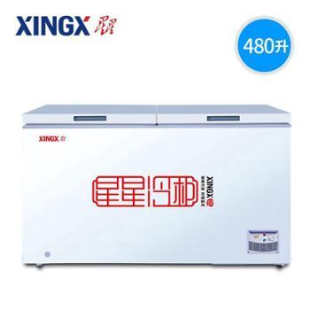 XINGX/星星 BD/BC-480E 冰柜商用 卧式大容量冷藏冷冻冷柜 冷冻柜