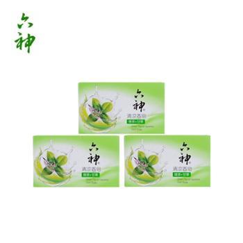 六神香皂清凉香皂沐浴皂清洁护肤(绿茶+甘草)125g×3块