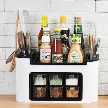 组合刀架多功能厨房置物架调味盒调料罐瓶收纳架储物架筷子收纳盒