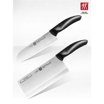 德国双立人刀具Style中片刀多用刀2件套装厨房家用不锈钢菜刀套刀