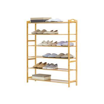 简易鞋架多层经济型家用组装防尘鞋架楠竹置物收纳鞋柜