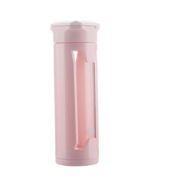 好奇小子双层玻璃简约商务运动塑料外壳杯子