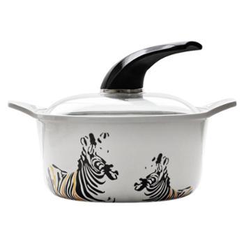 梦一锅2.4L全瓷锅(斑马) 煮蒸火锅煲汤