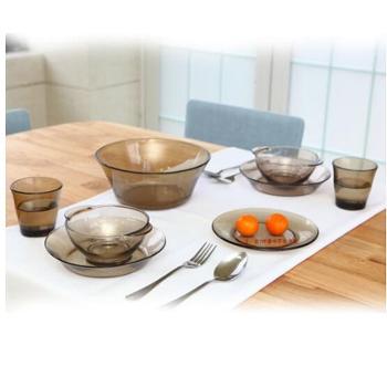 艾格莱雅康馥系列钢化彩色料玻璃餐具七件套