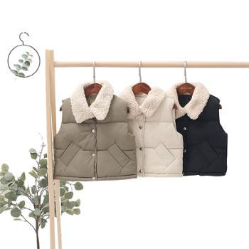 冬季新款儿童羽绒棉马甲男女童宝宝羊羔领童装W1990