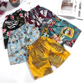 韩版夏季男童休闲五分裤 学生棉麻沙滩短裤儿童裤子
