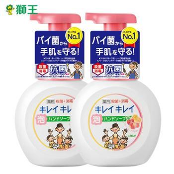 日本LION狮王儿童洗手液250mlX2瓶