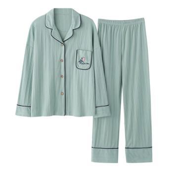 xoidol 秋冬款纯棉长袖男女可外穿家居服套装 纯棉