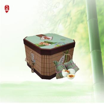 凡森传统风味粽子礼盒 六种口味 130g*16枚 搭配12枚海参汤腌制鸭蛋
