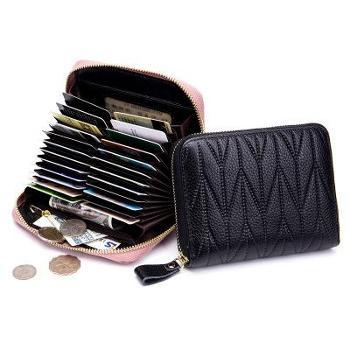 多功能卡包护照包真皮大容量拉链零钱卡片包rfid时尚旅行收纳包