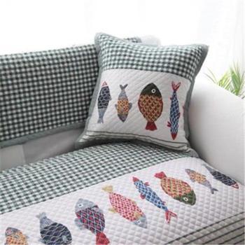 沙发垫乖乖鱼纯棉布艺沙发垫