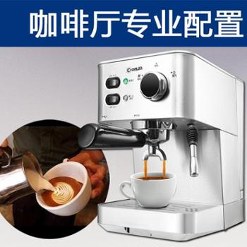 Donlim/东菱 DL-DK4682意式咖啡机家用商用全半自动蒸汽式不锈钢