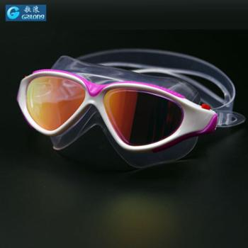 GRiLong泳镜成人大框时尚电镀防水防雾泳镜防水舒适液态硅胶G-819