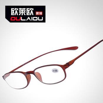 oulaiou/欧莱欧老花镜轻全框架摔不坏砸不烂高清老花眼镜2028