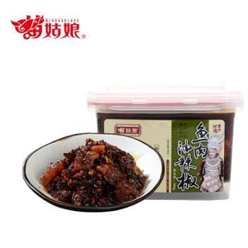 苗姑娘 贵州特色下饭拌面鱼肉油辣椒 380g/盒