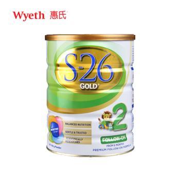 惠氏S26金装2段婴幼儿奶粉900g