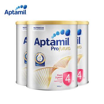 Aptamil【三罐装】澳洲Aptamil爱他美白金4段3罐900g婴幼儿奶粉适合3岁以上宝宝