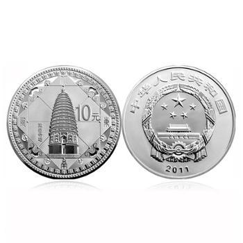 中国金币河南登封天地之中少林寺历史建筑群1盎司银币