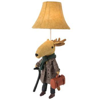 不一巴里空间提包狐狸提包鹿儿童房布艺台灯1*E27光源