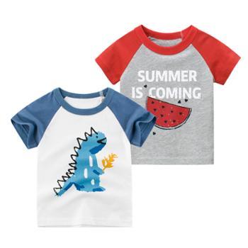 馨霓雅男童卡通薄款短袖T恤2件装