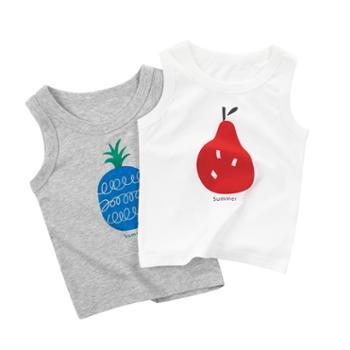 馨霓雅男童夏季薄款棉质水果无袖背心BX388