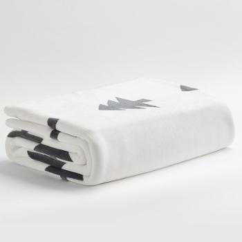 三利法兰绒加厚毛毯毛巾被午睡毯一条